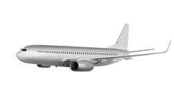 Big commercial plane on white Stock Photography
