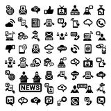 Big communication icons set Stock Photos