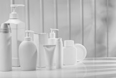 Big composition of skincare items Royalty Free Stock Photography