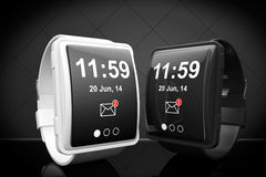 Big conceptual smart watches Royalty Free Stock Photo