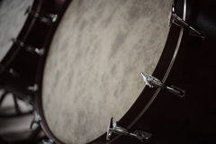 Big Concert Bass Drum with Natural Head Royalty Free Stock Photo