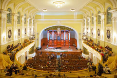 Big Concert Hall of Moscow Conservatory Royalty Free Stock Photography