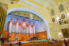 Big Concert Hall of Moscow Conservatory Royalty Free Stock Photos