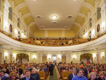 Big Concert Hall of Moscow Conservatory Royalty Free Stock Images