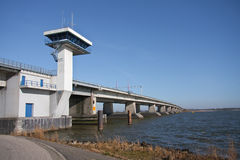 Big concrete bridge in the Netherlands Royalty Free Stock Images