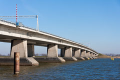 Big concrete bridge in the Netherlands Stock Photography