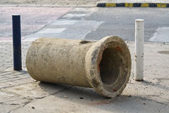 Big concrete pipe Royalty Free Stock Image