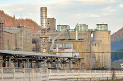 Big concrete factory Royalty Free Stock Images