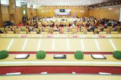 Big conference room at Event Moscow for life and people royalty free stock images