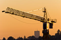 Big construction crane Royalty Free Stock Photos