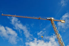 Big construction crane Stock Photo