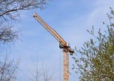 Big construction crane Stock Images
