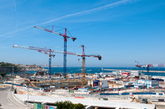 Big construction in port Stock Image