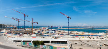 Big construction in port Royalty Free Stock Image