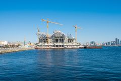 Big construction on the seashore Stock Photos