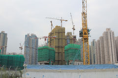Big construction site with cranes  Stock Image