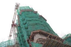 Big construction site with cranes in tko Royalty Free Stock Photos