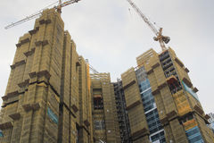 Big construction site with cranes in tko Stock Photo