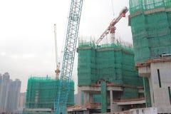 Big construction site with cranes in tko Stock Photos