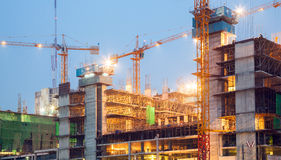 Big Construction Site Working Royalty Free Stock Image