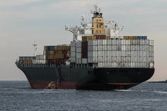 Big Container cargo ship at sea Royalty Free Stock Photos
