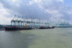 Big Container terminal in Malaysia Stock Photo