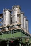 Big containers. In chemical factory Stock Image