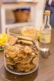Big cookie jar Stock Images