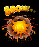 Big cool explosion background Royalty Free Stock Image