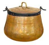 A big copper cauldron Royalty Free Stock Photo