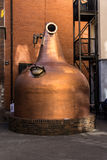 Big copper pot in front of the Old Jameson Distillery, Dublin, I Royalty Free Stock Photo