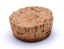 Big cork. Box cork isolated on a white background stock photos