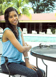 Big Corn Island native holiday hotel Managua Nicaragua Stock Photo