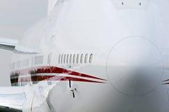 Big corporate jet airplane stock image
