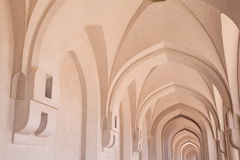 Big corridor inside Sultan's Palace in Oman Royalty Free Stock Images