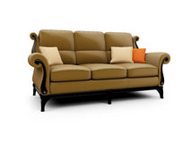 Big couch against white Stock Images