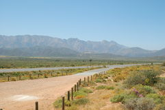 Big Country. South Africa in the winelands area, On the road from Wocester to Robertson royalty free stock photography