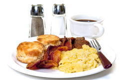 Big Country Breakfast Isolated Stock Image