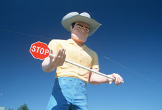 Big cowboy roadside attraction, Route 84, ID Royalty Free Stock Photography