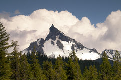 Big Cowhorn Mt. Thielsen Extinct Volcano Oregon Cascade Range Mo stock photo