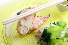 Big crab claw food Stock Images