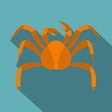 Big crab icon, flat style Royalty Free Stock Photography