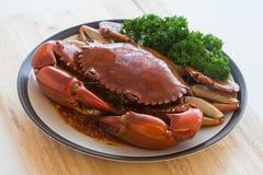 Big crab stir chili Stock Photography