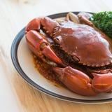 Big crab stir chili Royalty Free Stock Images