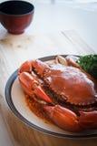 Big crab stir chili Royalty Free Stock Photo
