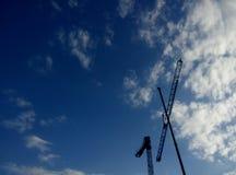 Big crane with blue sky bakground Stock Images
