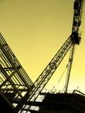 Big Crane and construction Stock Photo