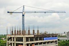 Big crane for construction. Big crane on the new building construction Royalty Free Stock Photos