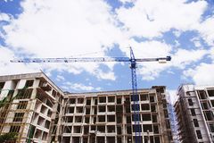 Big crane on construction Royalty Free Stock Photography