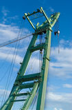 Big crane in the harbor. Of Antwerp against a blue sky Royalty Free Stock Photography